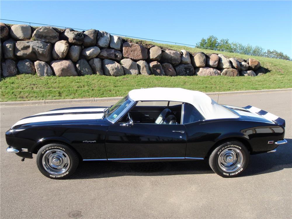 1968 CHEVROLET CAMARO CONVERTIBLE - Side Profile - 93583