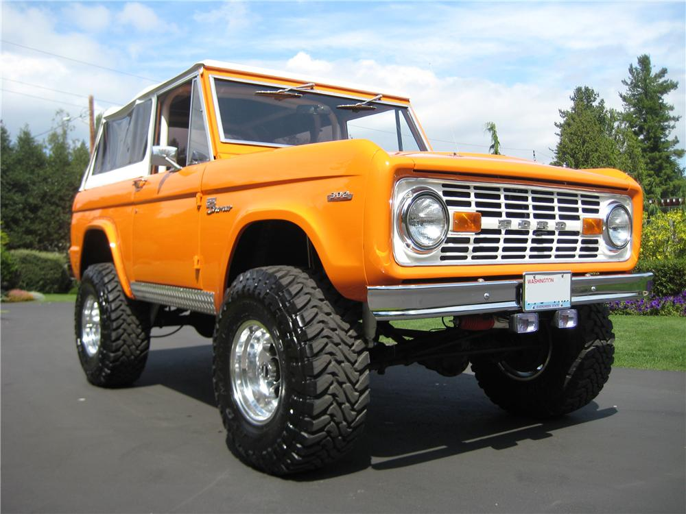 1969 FORD BRONCO CUSTOM 4X4 - Front 3/4 - 93585