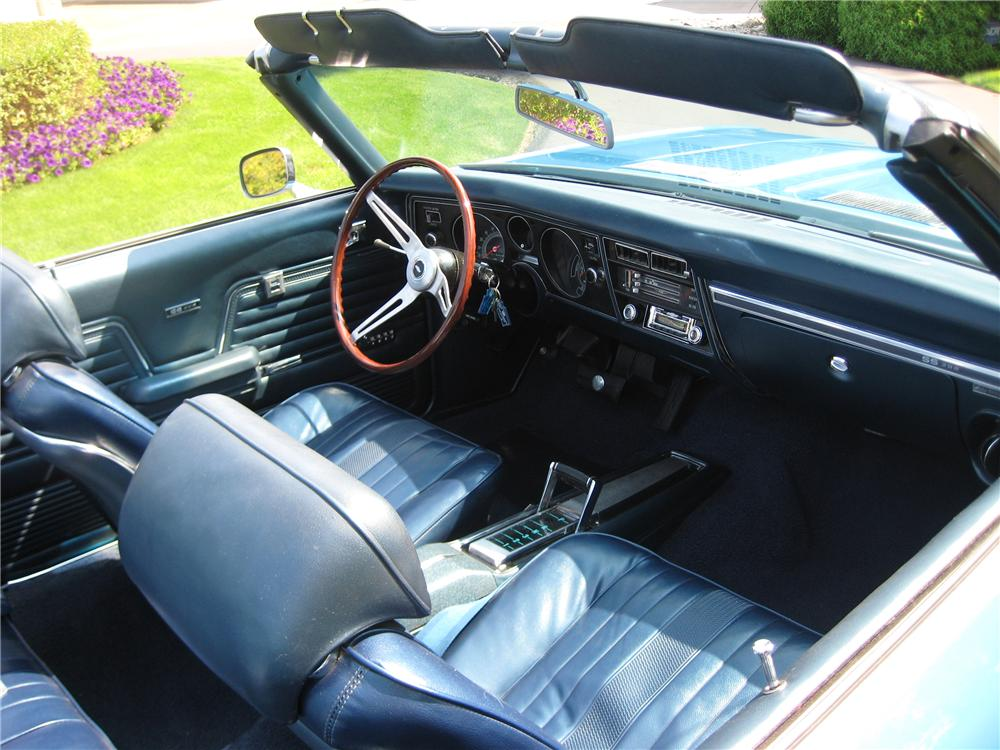 1969 CHEVROLET CHEVELLE 2 DOOR CONVERTIBLE - Interior - 93586