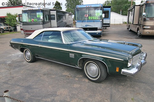 1973 OLDSMOBILE DELTA 88 ROYALE CONVERTIBLE - Front 3/4 - 93588