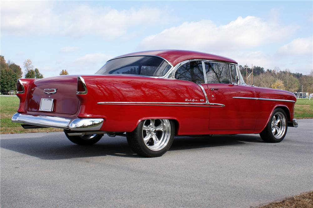 1955 chevrolet bel air custom 2 door hardtop 93600 for 1955 chevy two door
