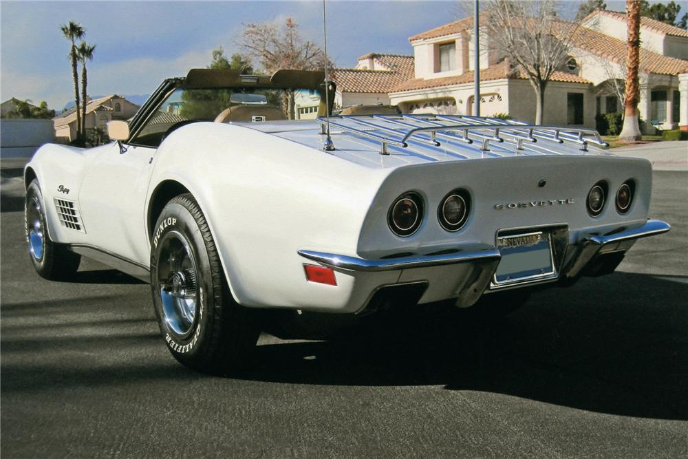 1972 CHEVROLET CORVETTE CONVERTIBLE - Rear 3/4 - 93607