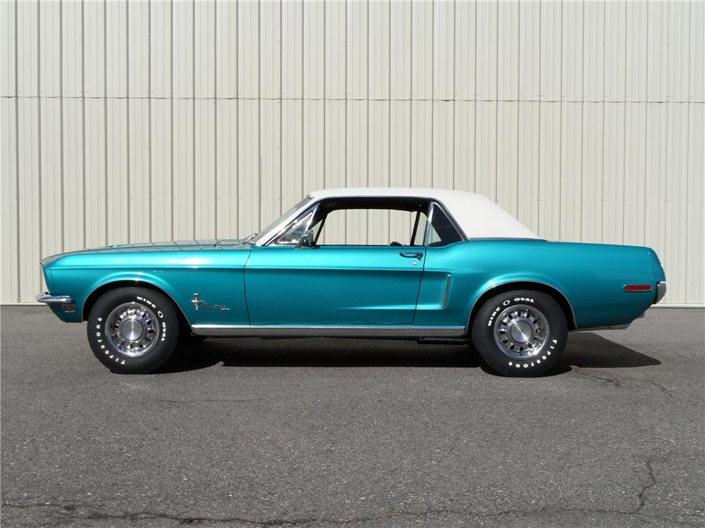 1968 FORD MUSTANG COUPE - Side Profile - 93610