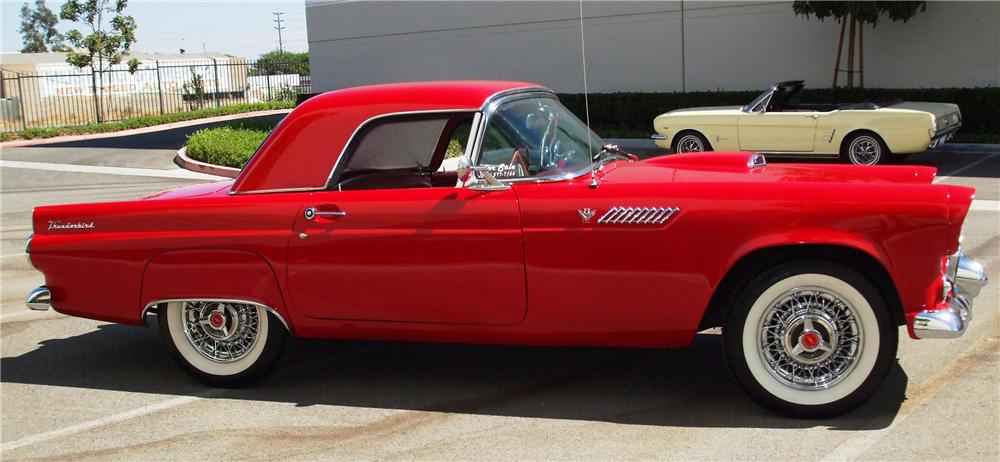 1955 FORD THUNDERBIRD CONVERTIBLE - Side Profile - 93614
