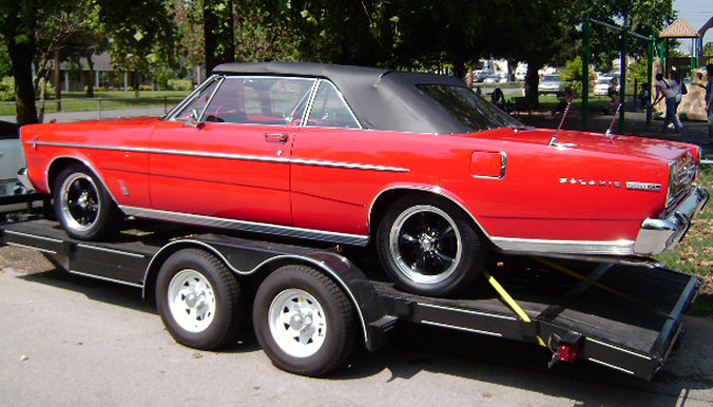1966 FORD GALAXIE 500 XL CUSTOM CONVERTIBLE - Rear 3/4 - 93618