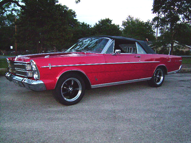 1966 FORD GALAXIE 500 XL CUSTOM CONVERTIBLE - Side Profile - 93618