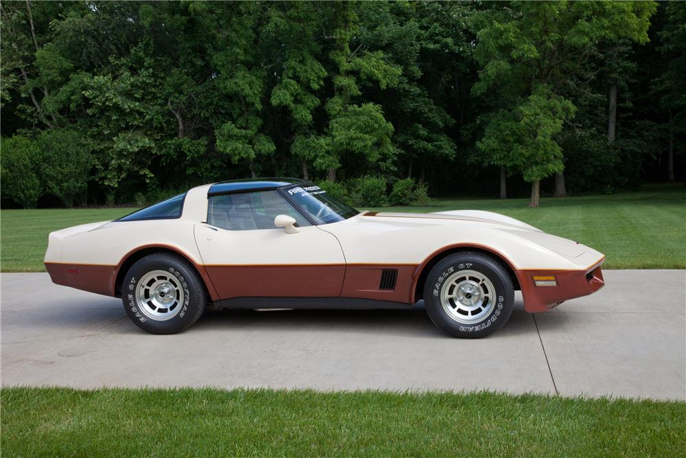 1981 CHEVROLET CORVETTE COUPE - Side Profile - 93625