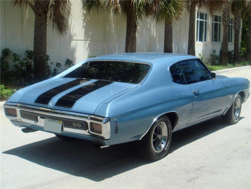 1970 CHEVROLET CHEVELLE CUSTOM 2 DOOR COUPE - Rear 3/4 - 93633