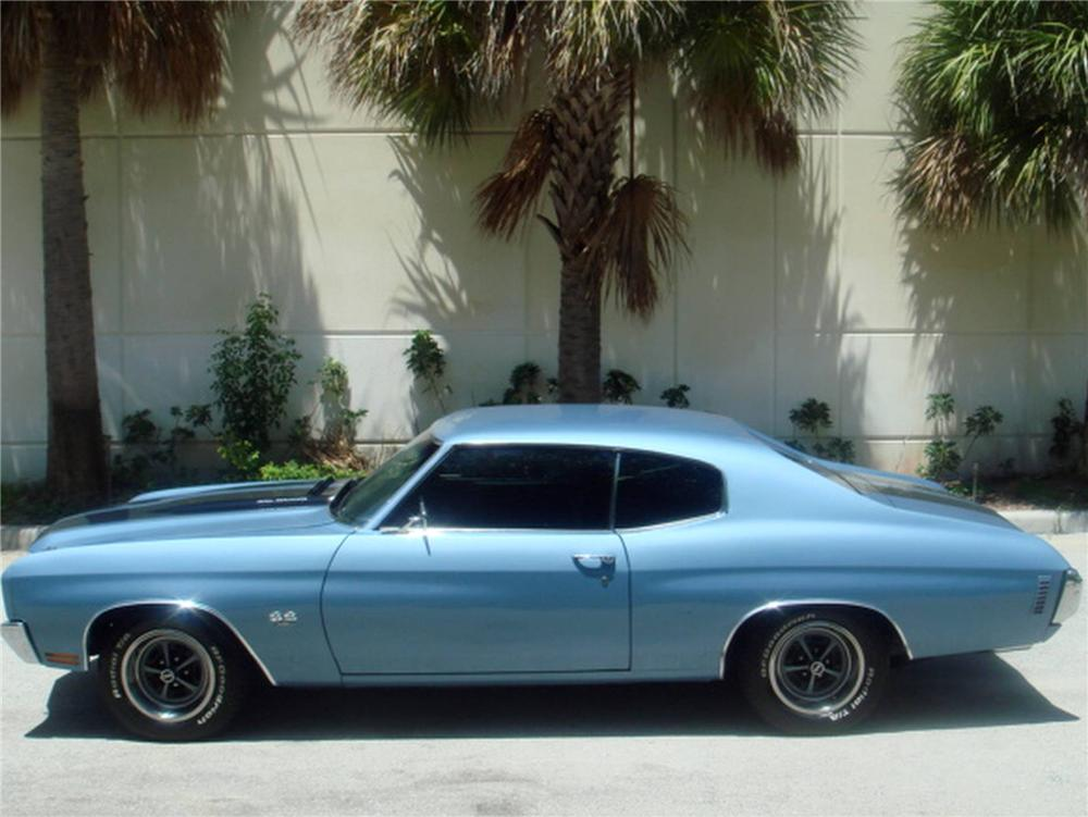 1970 CHEVROLET CHEVELLE CUSTOM 2 DOOR COUPE - Side Profile - 93633