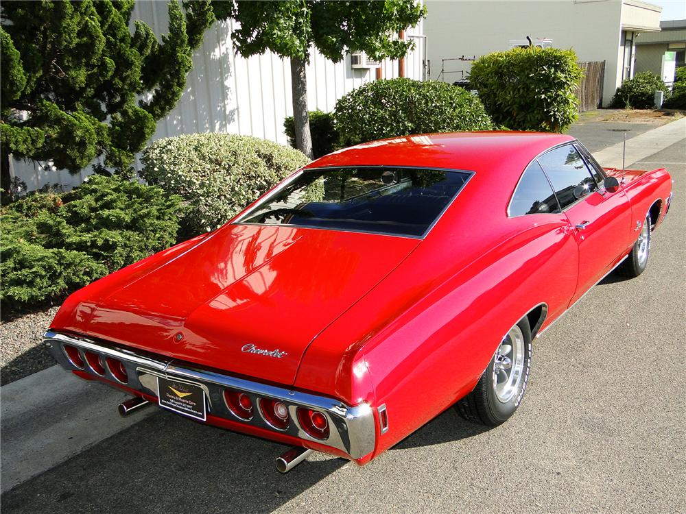1968 CHEVROLET IMPALA 2 DOOR COUPE - Rear 3/4 - 93651