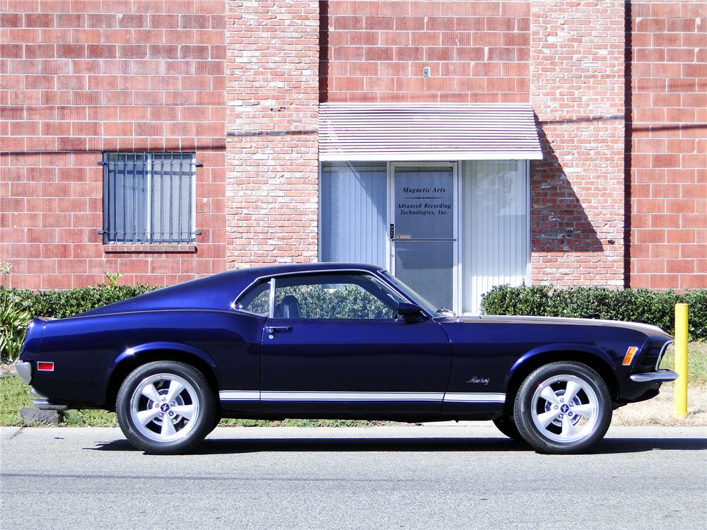 1970 FORD MUSTANG FASTBACK - Side Profile - 93652