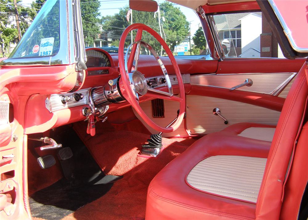 1956 FORD THUNDERBIRD CONVERTIBLE - Interior - 93670