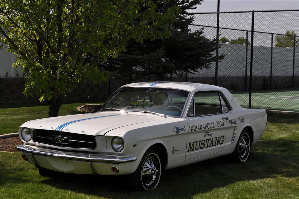 1965 FORD MUSTANG PACE CAR COUPE - Front 3/4 - 93671