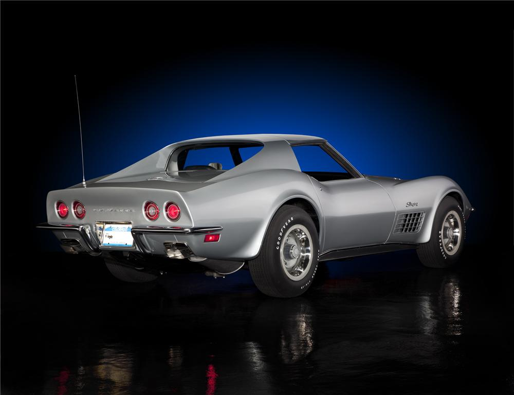 1971 CHEVROLET CORVETTE COUPE - Rear 3/4 - 93678