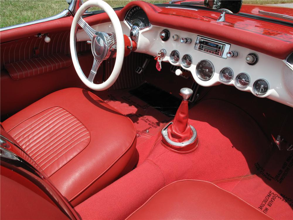 1954 CHEVROLET CORVETTE CONVERTIBLE - Interior - 93685