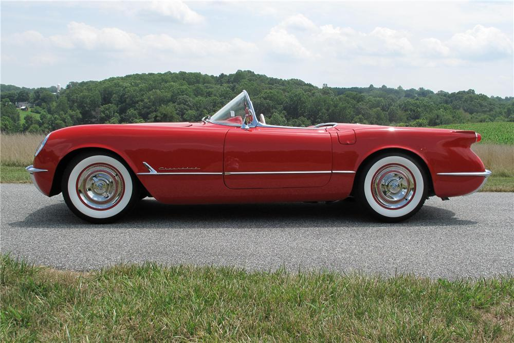 1954 CHEVROLET CORVETTE CONVERTIBLE - Side Profile - 93685