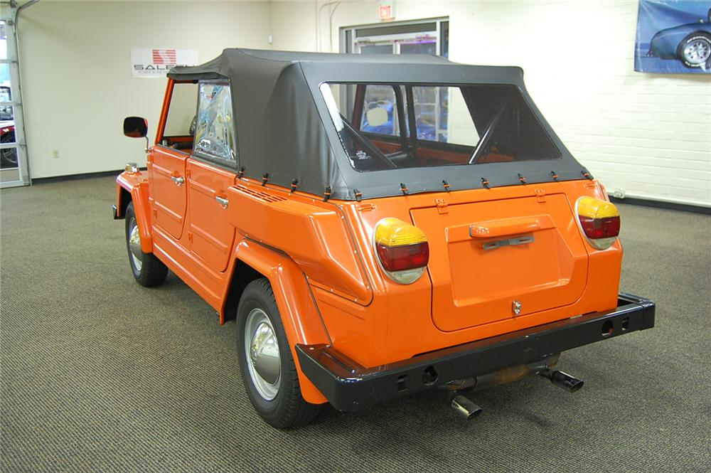 1974 VOLKSWAGEN THING CONVERTIBLE - Rear 3/4 - 93686