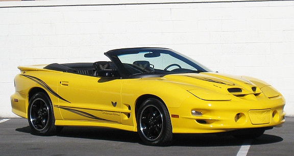 2002 PONTIAC FIREBIRD TRANS AM CONVERTIBLE COLLECTORS EDITION - Front 3/4 - 93699