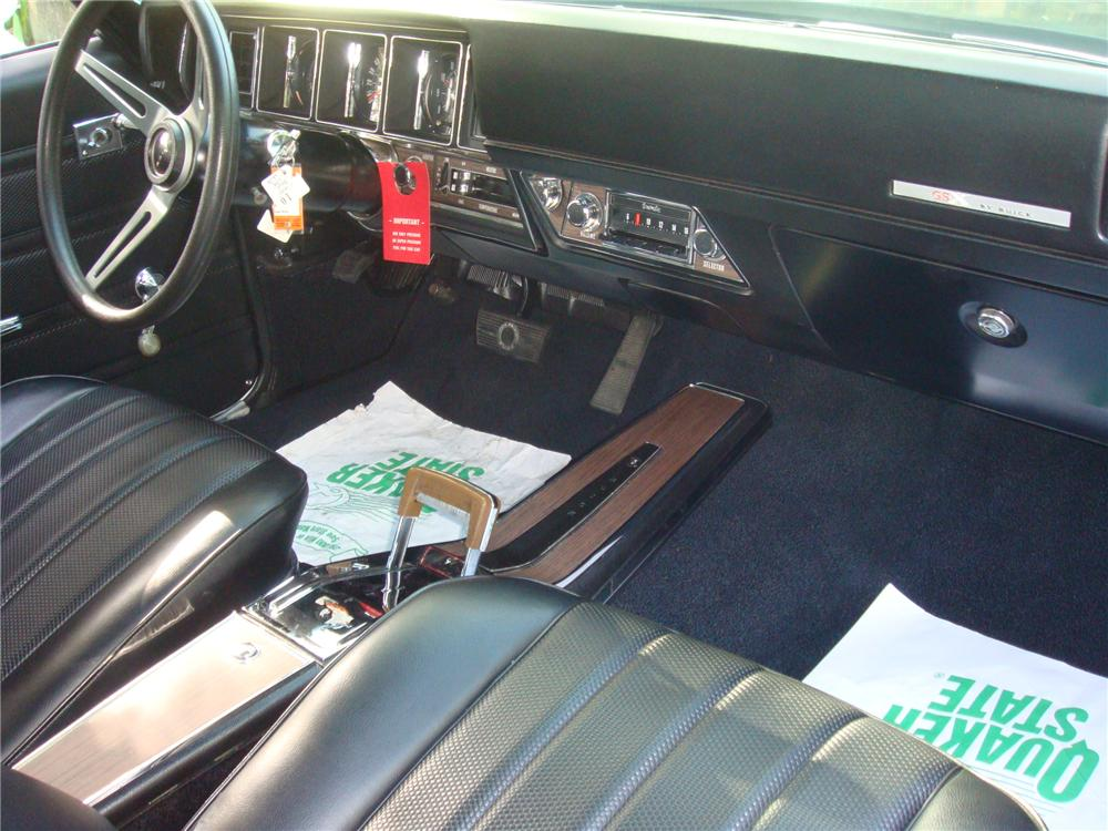 1970 BUICK GSX 2 DOOR COUPE - Interior - 93704
