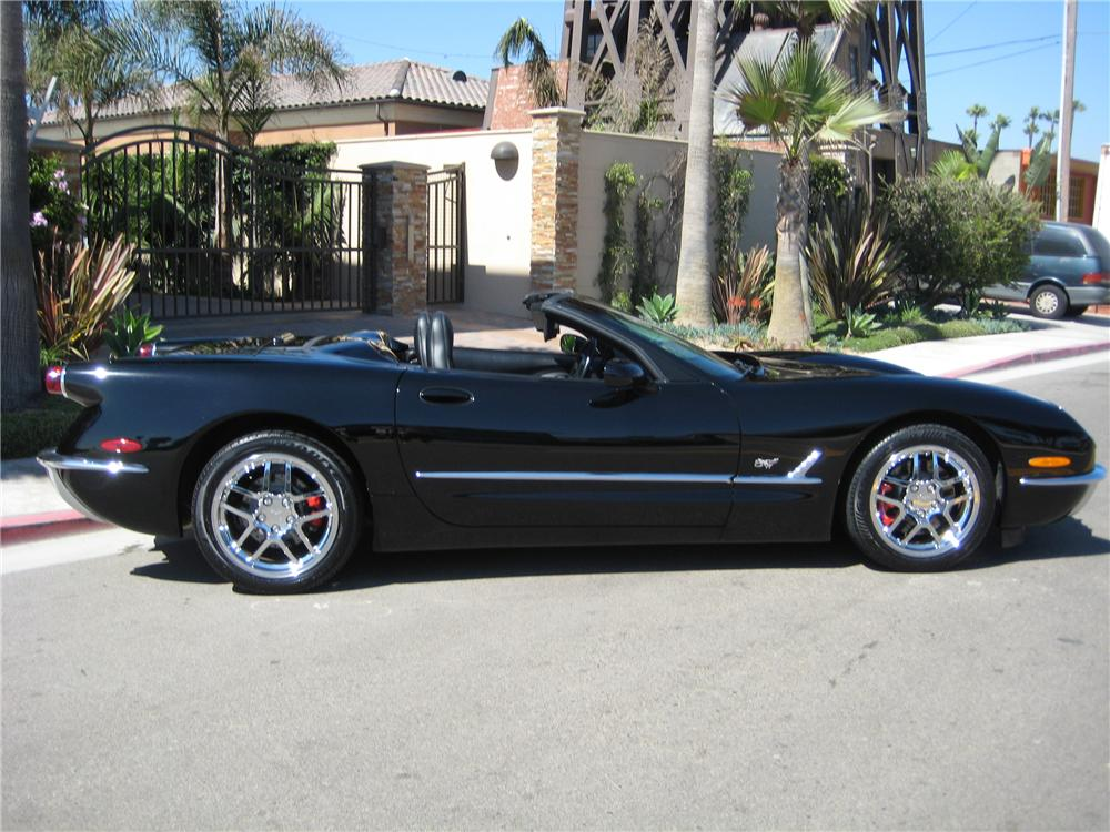 2001 CHEVROLET CORVETTE CONVERTIBLE 50TH ANNIVERSARY - Side Profile - 93706