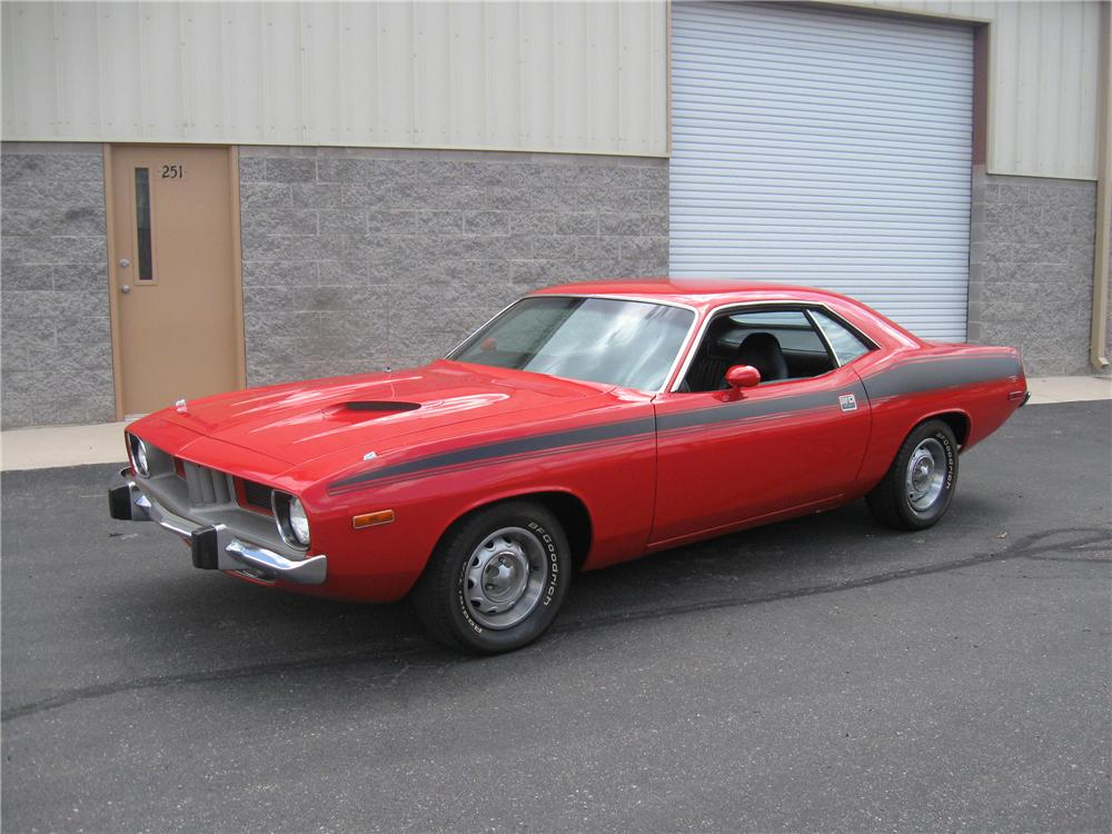 1973 PLYMOUTH BARRACUDA CUSTOM 2 DOOR HARDTOP - Front 3/4 - 93854