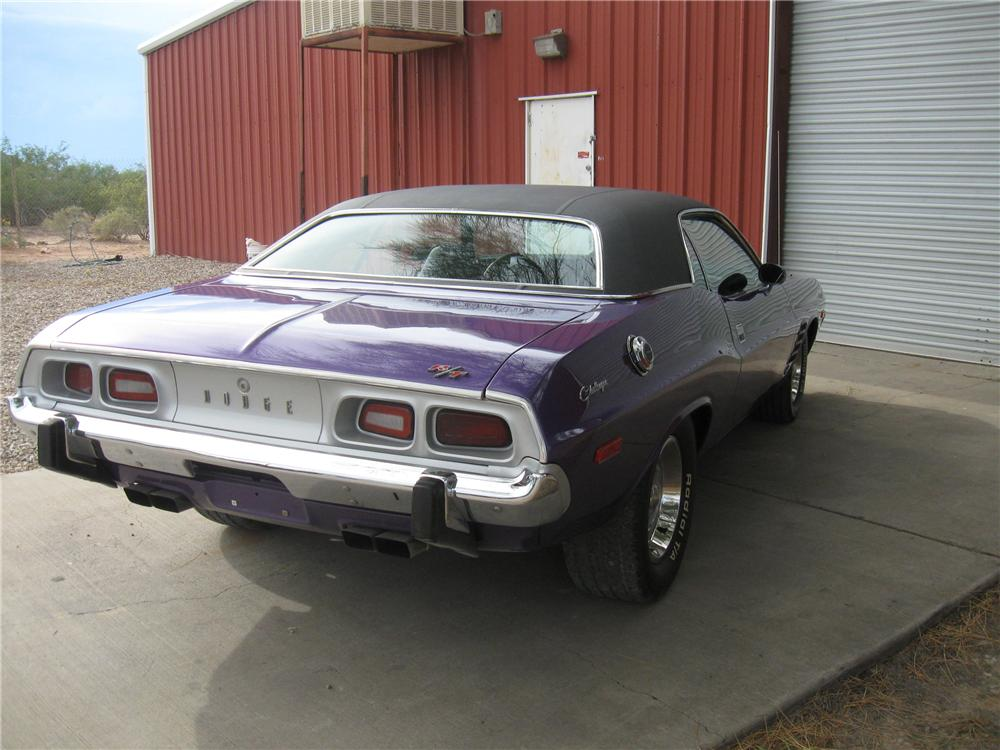 1973 DODGE CHALLENGER CUSTOM 2 DOOR HARDTOP - Rear 3/4 - 93855