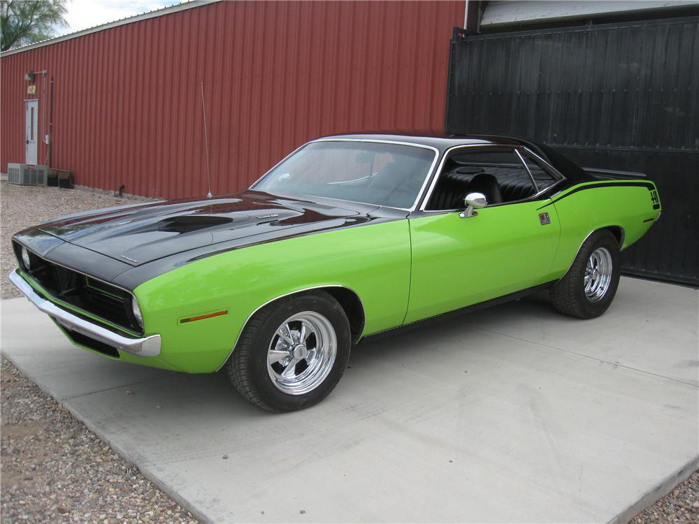 1970 PLYMOUTH CUDA CUSTOM 2 DOOR HARDTOP - Front 3/4 - 93864