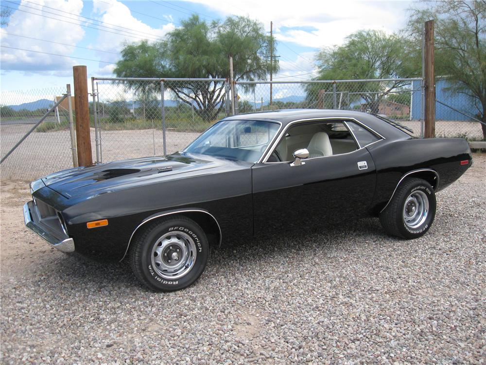 1974 PLYMOUTH CUDA 2 DOOR HARDTOP - Side Profile - 93870