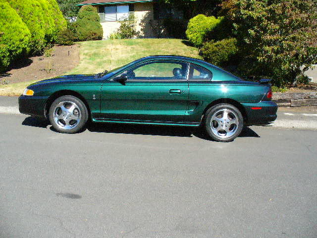 1996 FORD MUSTANG COBRA COUPE - Side Profile - 94015