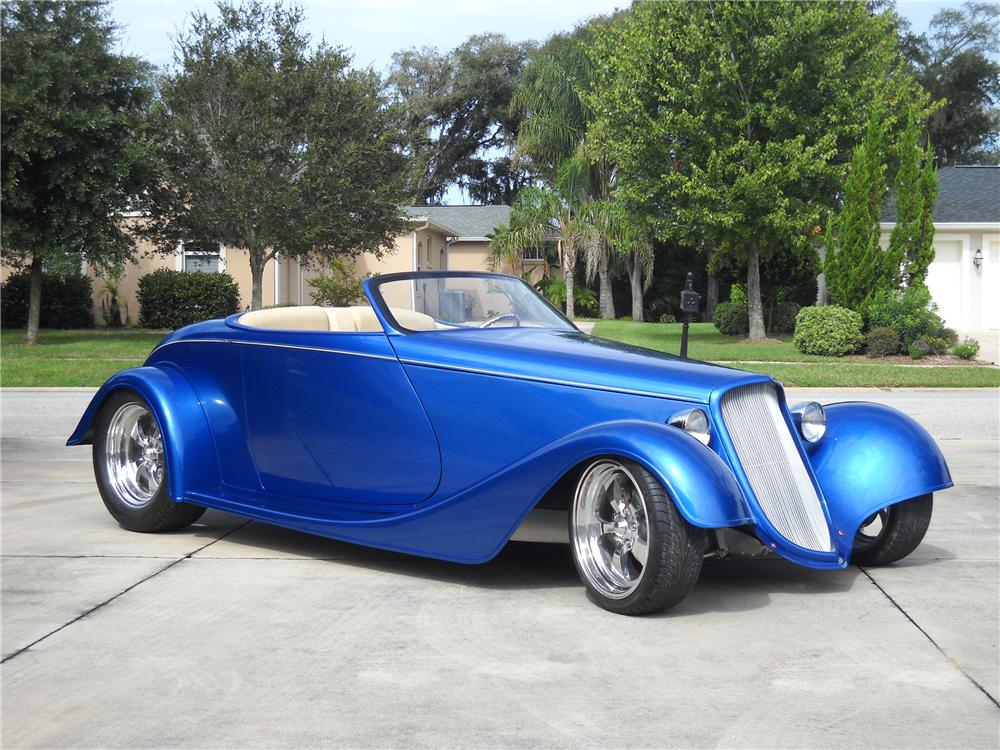 1933 FORD ROADSTER STREET ROD - Front 3/4 - 94026