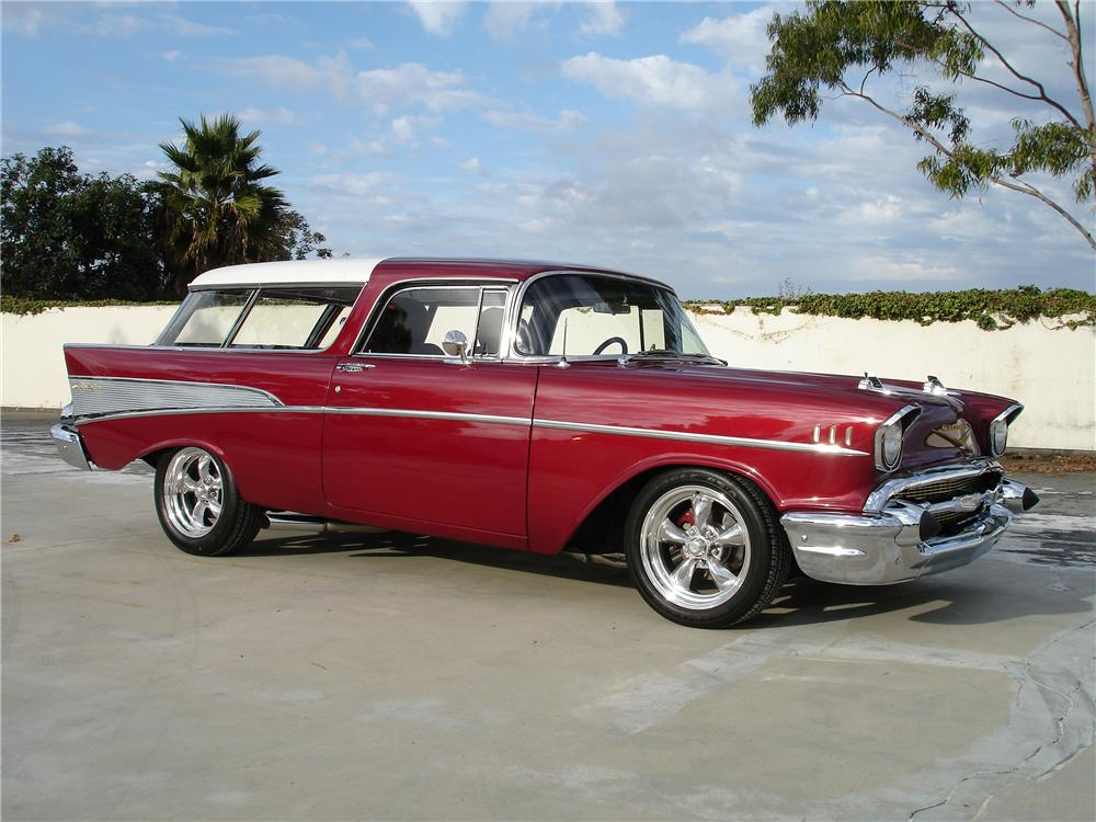 1957 CHEVROLET NOMAD CUSTOM 2 DOOR WAGON - Front 3/4 - 94039