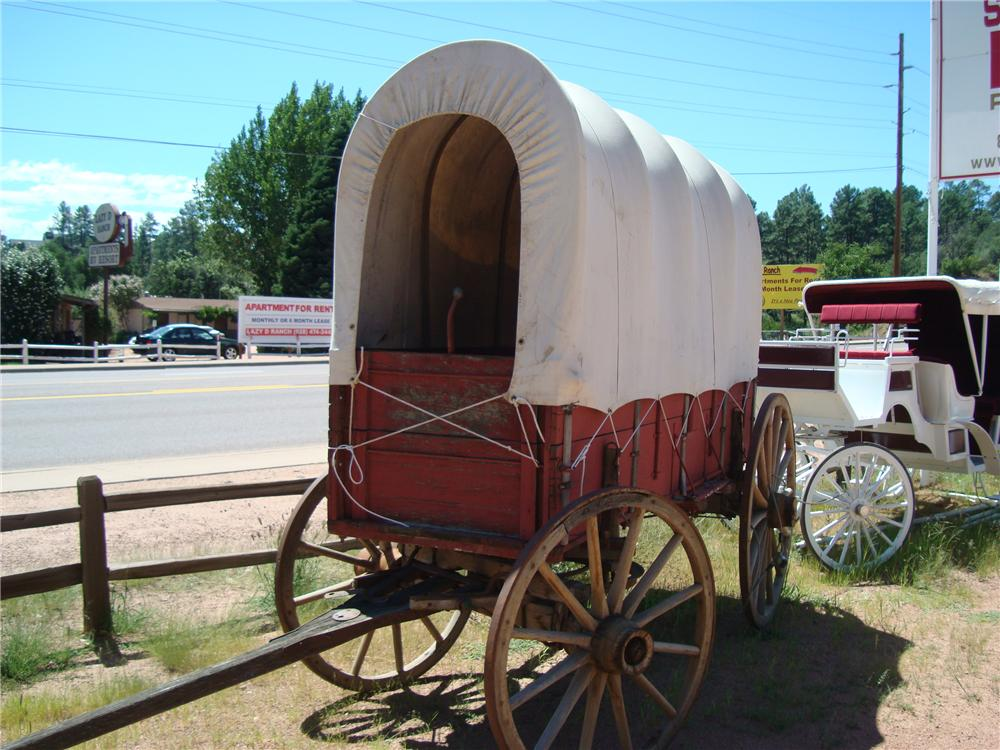 0 COVERED WAGON CIRCA 1880-1900 - Front 3/4 - 94045