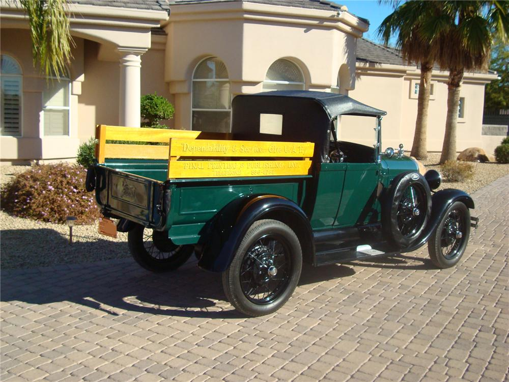 1928 FORD MODEL A PICKUP - Rear 3/4 - 94047