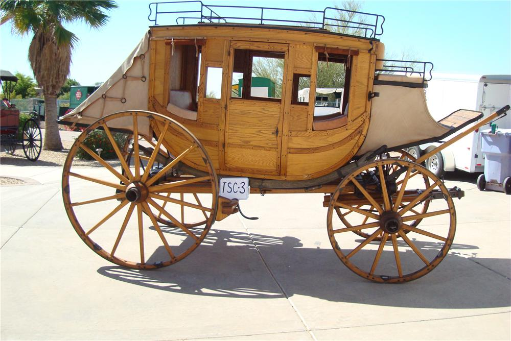 0 STAGE COACH FULL SIZED 1880 STYLE REPLICA - Side Profile - 94048