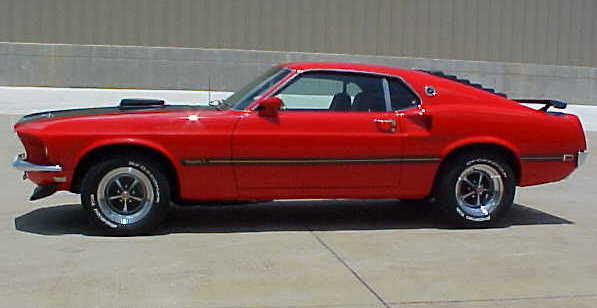 "1969 FORD MUSTANG 428 CJ ""R"" FASTBACK - Side Profile - 94067"