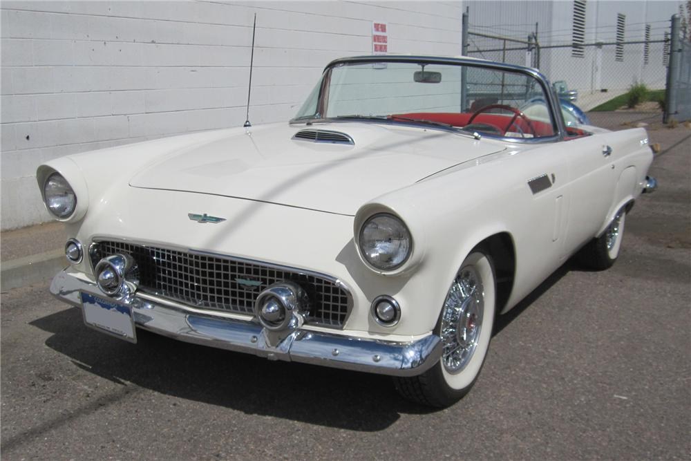 1956 FORD THUNDERBIRD CONVERTIBLE - Front 3/4 - 94068
