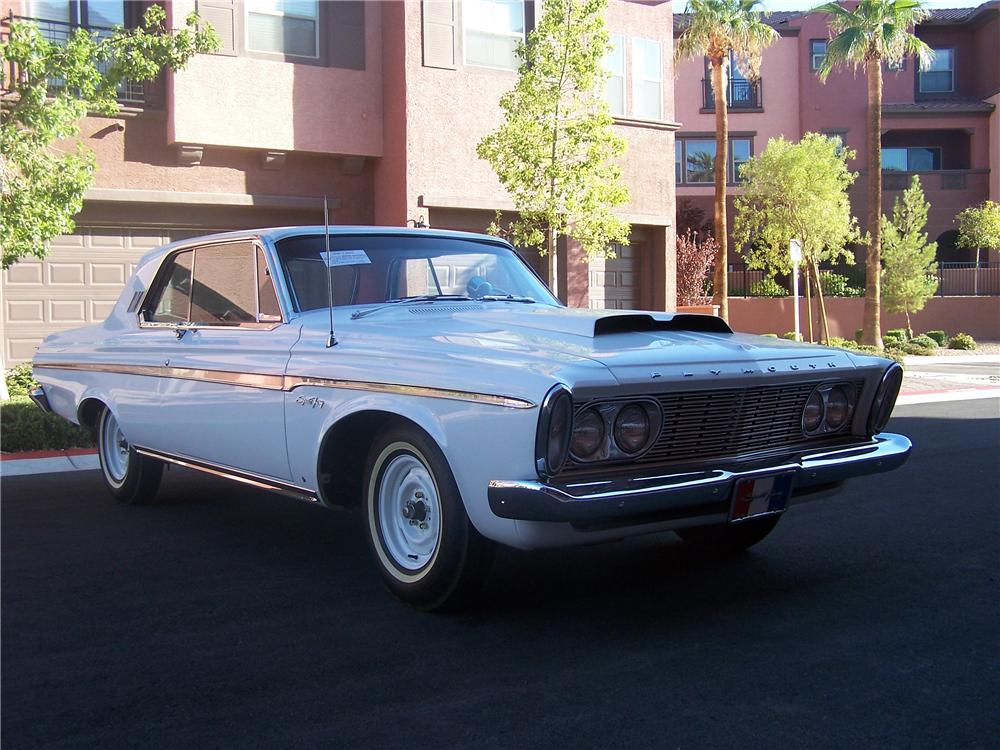 1963 PLYMOUTH SPORT FURY MAX WEDGE RE-CREATION - Front 3/4 - 94075