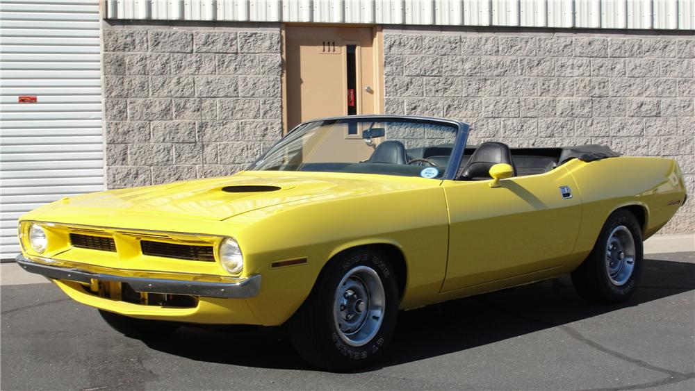 1970 PLYMOUTH BARRACUDA CONVERTIBLE - Front 3/4 - 94095