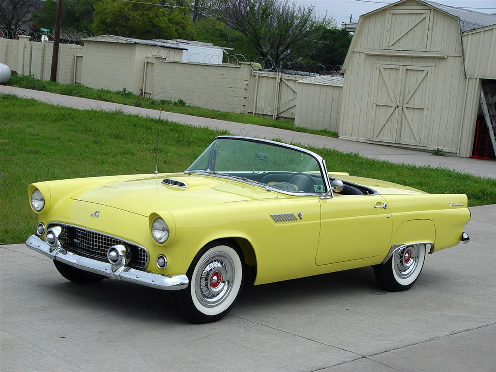 1955 FORD THUNDERBIRD CONVERTIBLE - Front 3/4 - 96067
