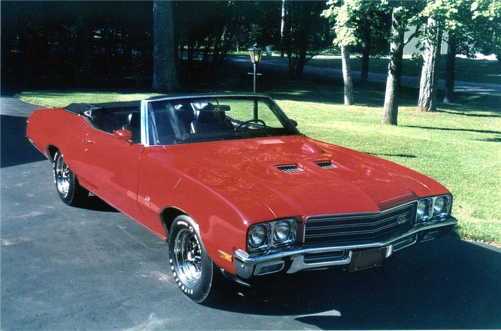 1971 BUICK GS455 CONVERTIBLE - Front 3/4 - 96068