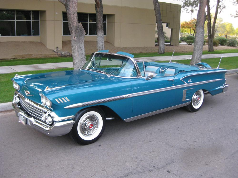 1958 CHEVROLET IMPALA CONVERTIBLE - Front 3/4 - 96070