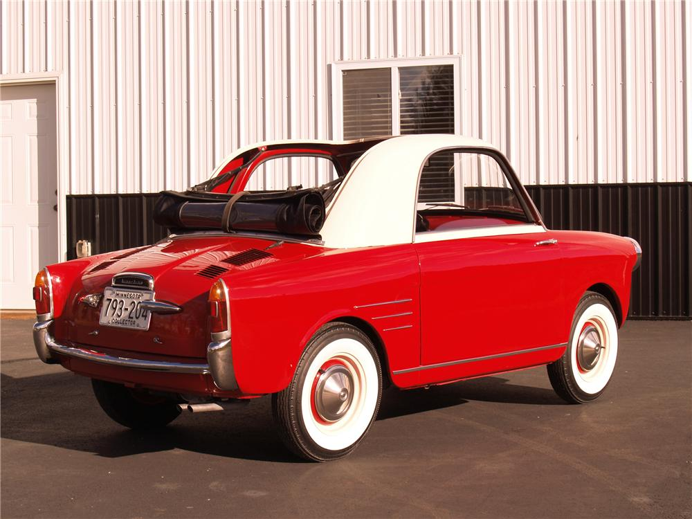 1959 AUTOBIANCHI TRANSFORMABLE 2 DOOR - Rear 3/4 - 96071