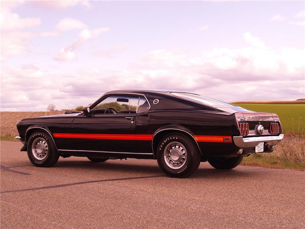 1969 FORD MUSTANG MACH 1 428 SCJ FASTBACK - Rear 3/4 - 96073