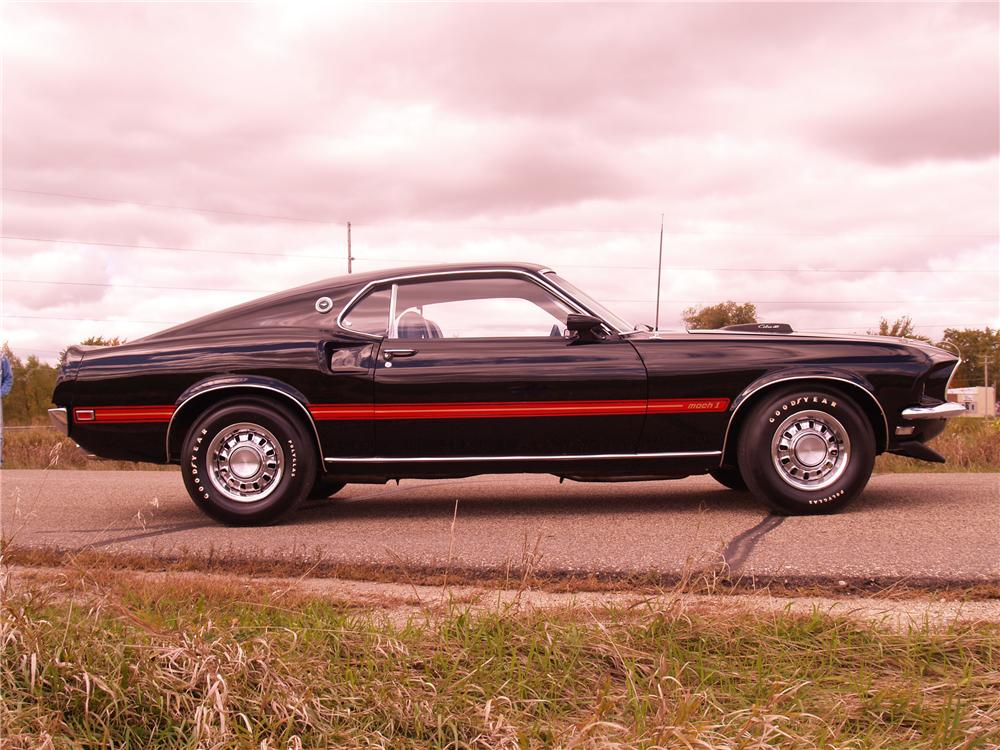 1969 FORD MUSTANG MACH 1 428 SCJ FASTBACK - Side Profile - 96073