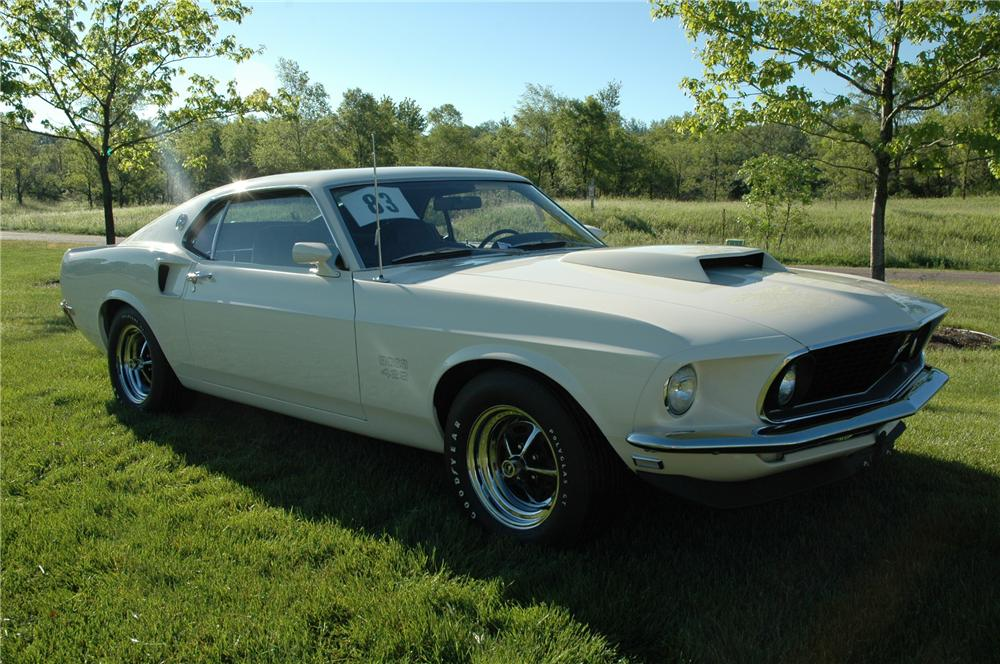1969 FORD MUSTANG BOSS 429 FASTBACK - Front 3/4 - 96076