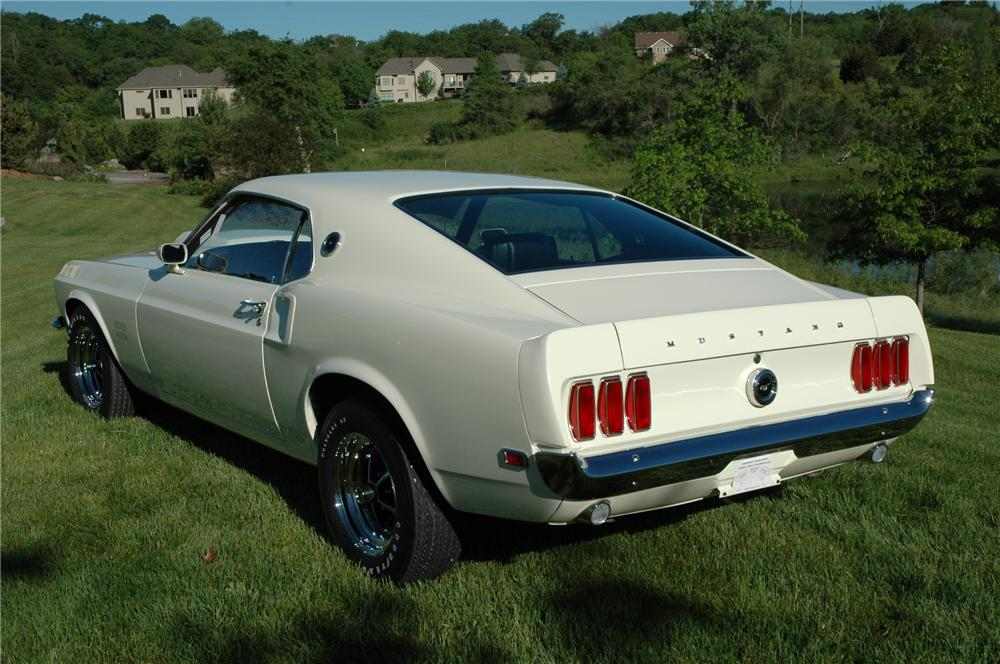 1969 FORD MUSTANG BOSS 429 FASTBACK - Rear 3/4 - 96076