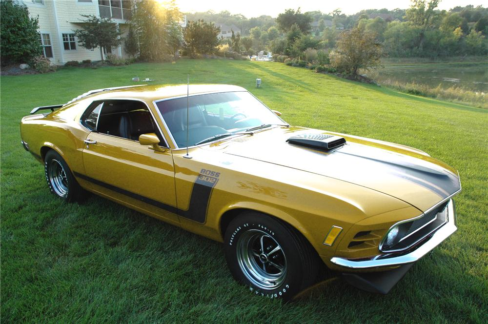 1970 FORD MUSTANG BOSS 302 FASTBACK - Front 3/4 - 96077