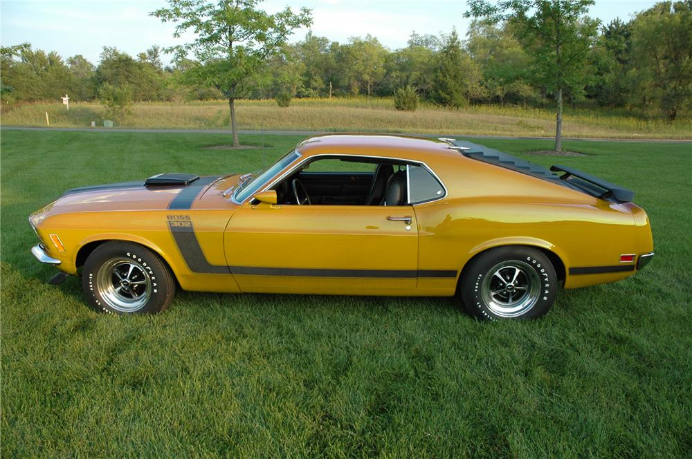 1970 FORD MUSTANG BOSS 302 FASTBACK - Side Profile - 96077