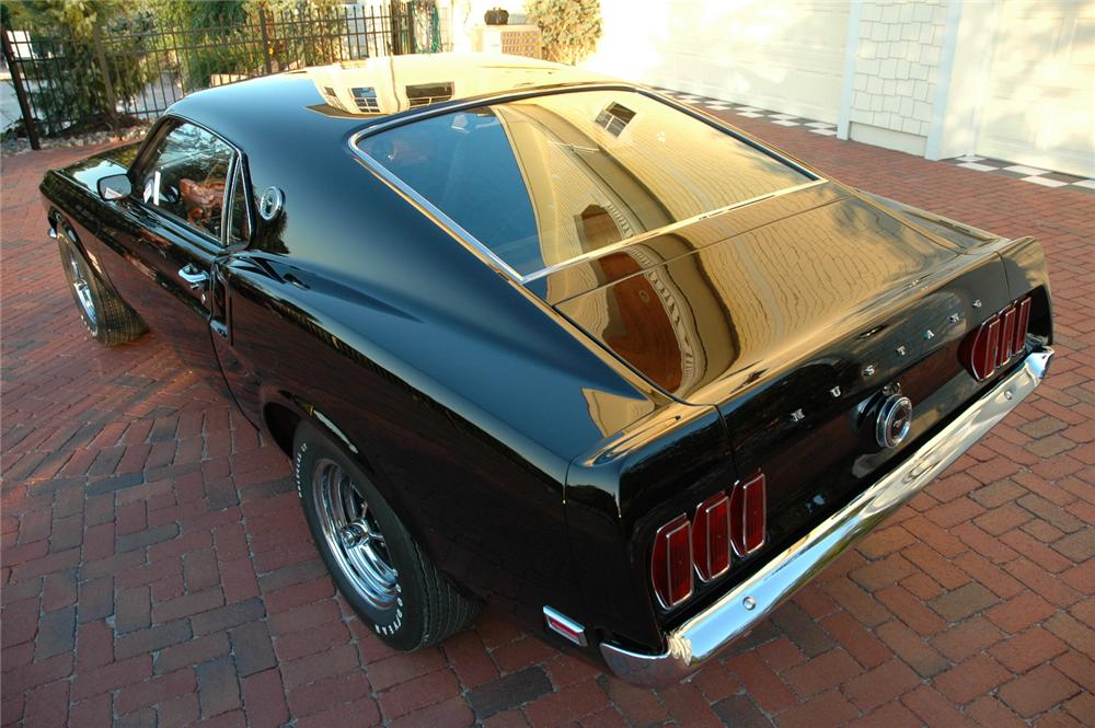 1969 FORD MUSTANG BOSS 429 FASTBACK RE-CREATION - Rear 3/4 - 96078