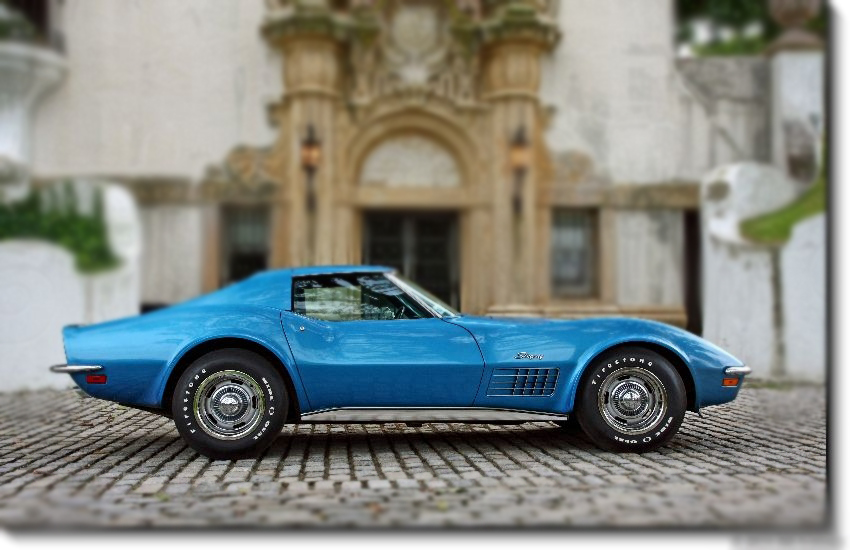 1971 CHEVROLET CORVETTE COUPE - Side Profile - 96080